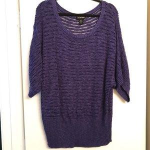 Lane Bryant Royal Purple Scoop Neck Sweater 22/24